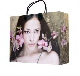 Pink Orchid Carrier Bags #Retail