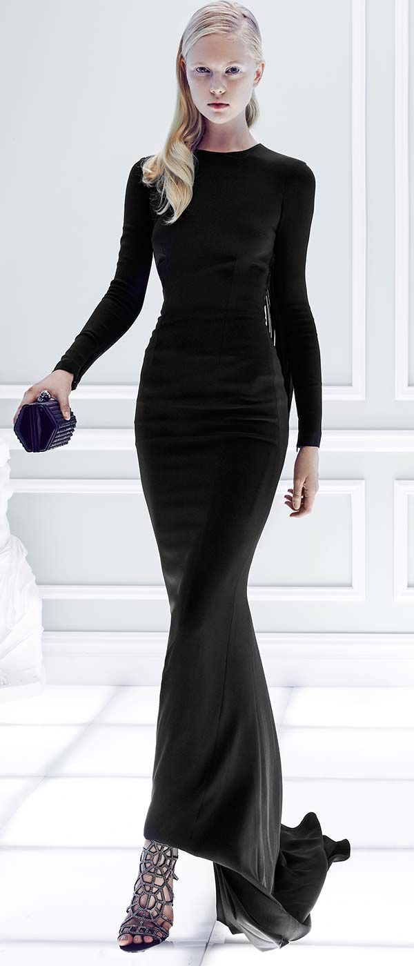 Compliment your curves with Stella McCartney's sleek and sexy Fringe-Trimmed 'Cady' Gown.