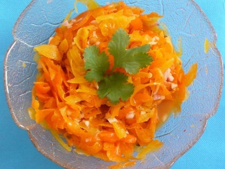 Salade de poivrons crus aux épices