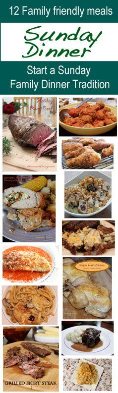 12 Recipes for Sunday Family Dinner