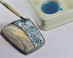 FREE TUTORIAL: Beach brooch, polymer clay More