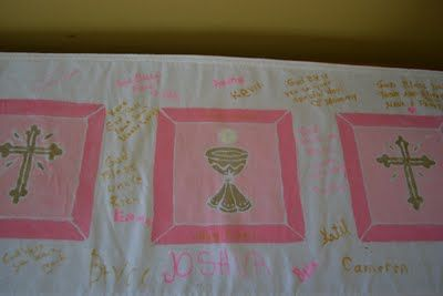 Come Together Kids: Guestbook Table Runner - First Communion Keepsake