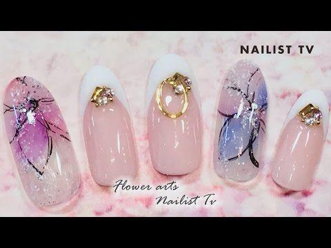 透け感フラワーネイルで上品な指先 NAILIST TV - YouTube