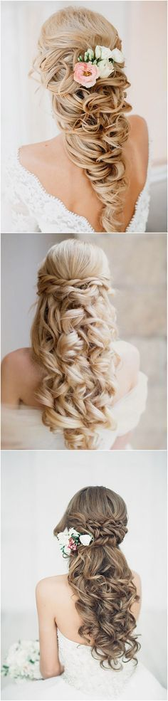 40 Stunning Half Up Half Down Wedding Hairstyles with Tutorial / http://www.deerpearlflowers.com/15-stunning-half-up-half-down-wedding-hairstyles-with-tutorial/ #weddinghairstyleshalfuphalfdown