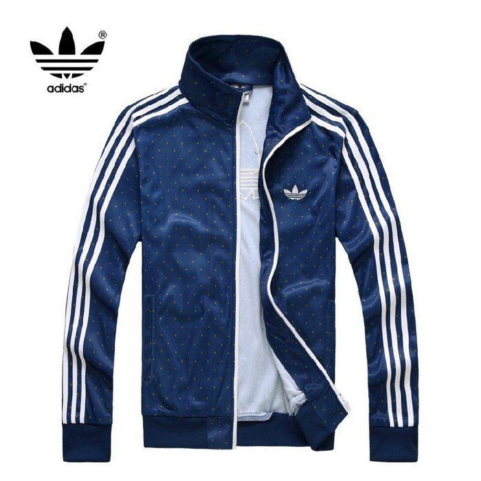 veste adidas homme bleu blanc