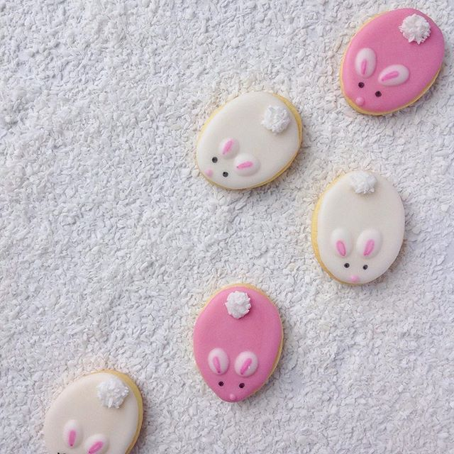 Little bunny cookies for easter by little cookie co.
