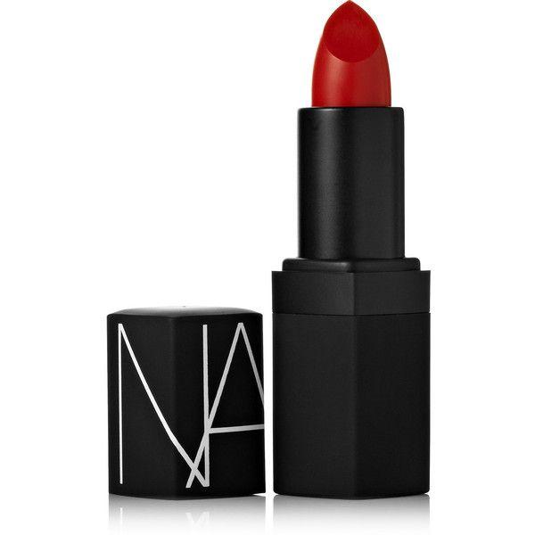 NARS Semi Matte Lipstick - Jungle Red (€25) ❤ liked on Polyvore featuring beauty products, makeup, lip makeup, lipstick, beauty, lips, cosmetics, fillers, long wear lipstick and moisturizing lipstick
