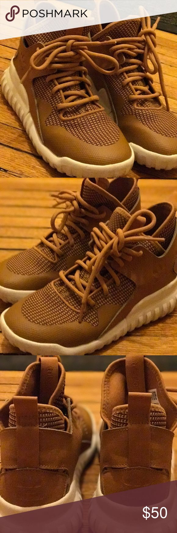 Adidas kid x tubular Like new worn only 2 times. No scratches. Clean. No box. Adidas Shoes Sneakers
