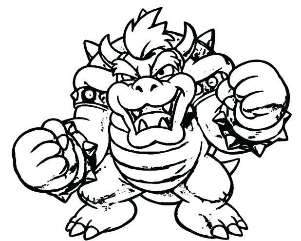 Bowser Coloring Page Super Mario Coloring Pages Mario Coloring