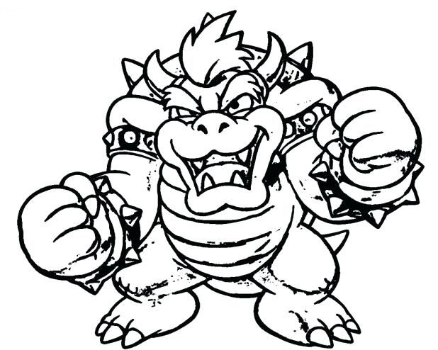 Bowser Coloring Pages Super Mario Coloring Pages Coloring Pages