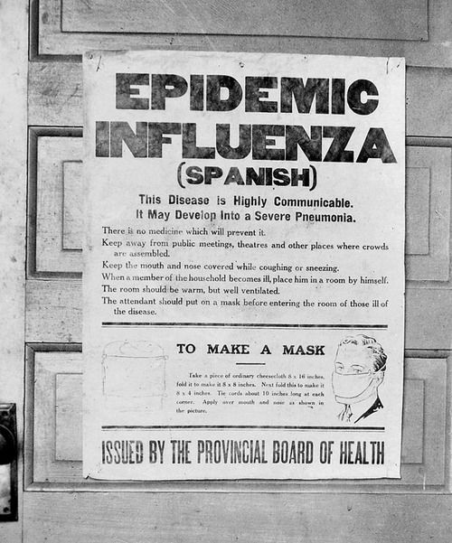 The spread of Spanish Influenza in 1918 caused the death of more than 30 million victims. This epidemic killed more people than the black plague which killed between a third and a half of the European population between 1350 and 1370.