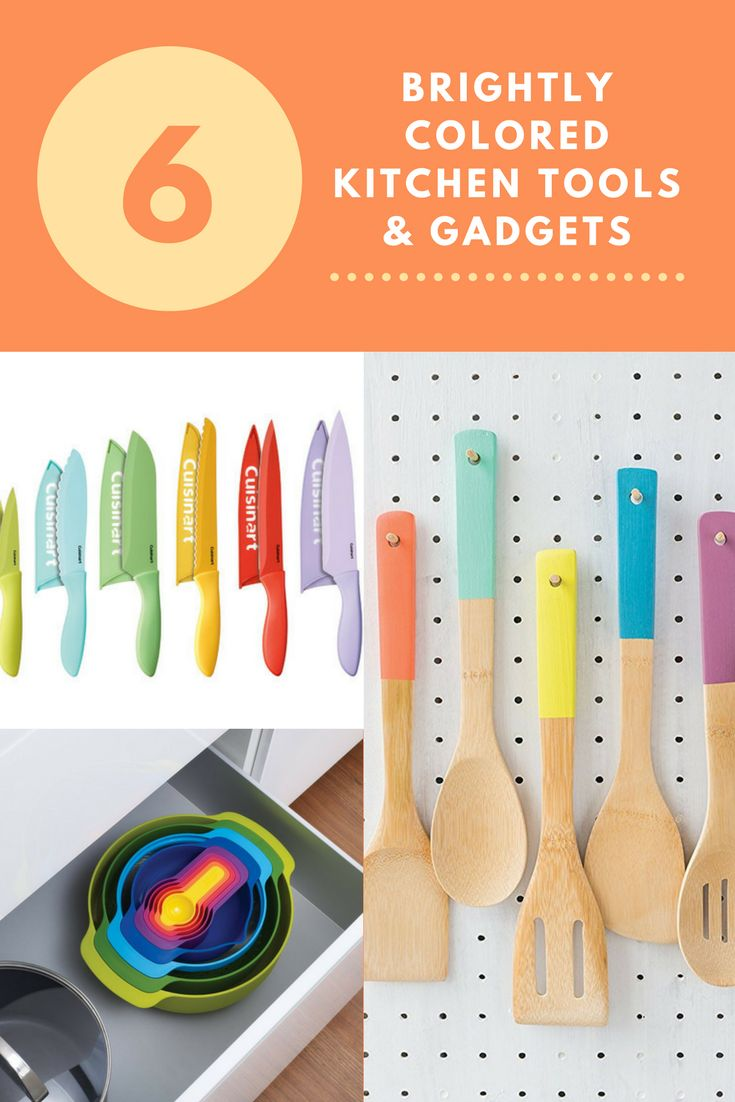 Get beautifully organized with these 6 Brightly Colored Kitchen Tools & Gadgets | the INSPIRED home