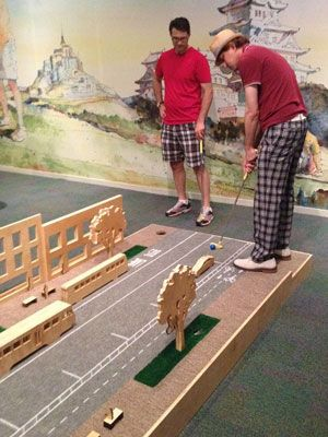 go mini-golfing at the national building museum through Sept. 3