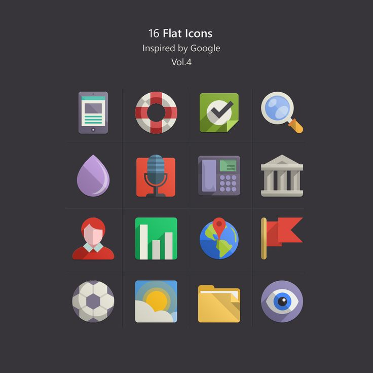 Free Flat Design Icons Set Vol4