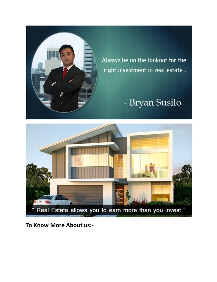 Bryan susilo   right investor in property by PatriciaSusilo07 via slideshare