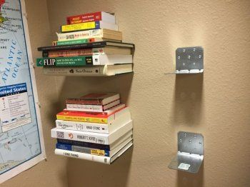 Невидимые книжные полки своими руками