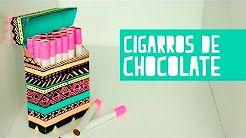 (19) Cigarros de chocolate con cajetilla! (Anie) - YouTube