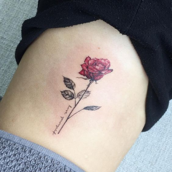 Image result for rose tattoo with name