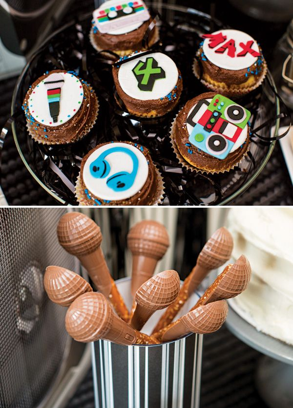 Rockin Old School Hip Hop Dance Birthday Party  My Old School Hip Hop Cupcake and Cake Toppers were featured on Hostess With The Mostess Blog today! Check it out!  Photo credit goes out to http://www.alexisjuneweddings.com/ And party planning credit goes to Seedlings by www.bladenyc.com