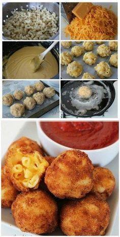 Fried Macaroni and Cheese Bites | Bake a Bite