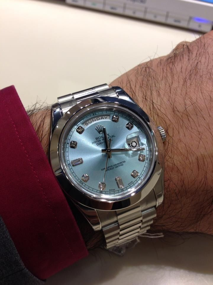 Rolex Day Date II (platinum) = a heavyweight / in more ways than one ) stunning design and face colour