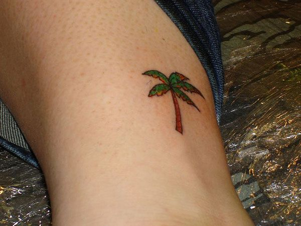 Palm Tree Tattoo for the beach! love it