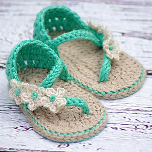 Carefree Baby Sandals - Crochet Pattern