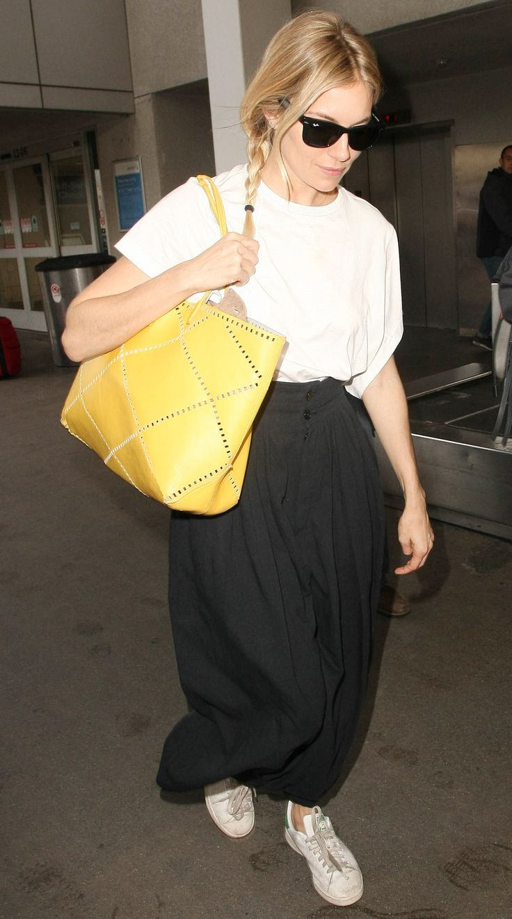 Celebrity-Inspired Outfits to Wear on a Plane - Sienna Miller from InStyle.com