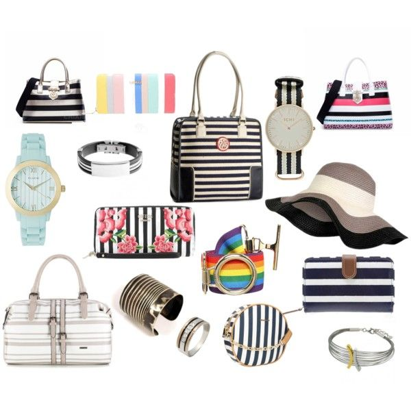 love stripes accessories by colour-code on Polyvore featuring moda, Trussardi, Cath Kidston, GUESS, Ichi and L.Credi