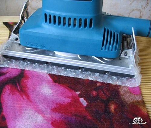 Мокрое валяние на ткани с помощью вибро-шлифовальной машинки - Ярмарка Мастеров - ручная работа, handmade