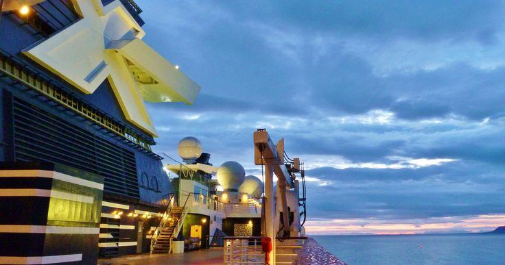 Midnight onboard Celebrity Infinity Cruise Ship, Reykjavik, Iceland
