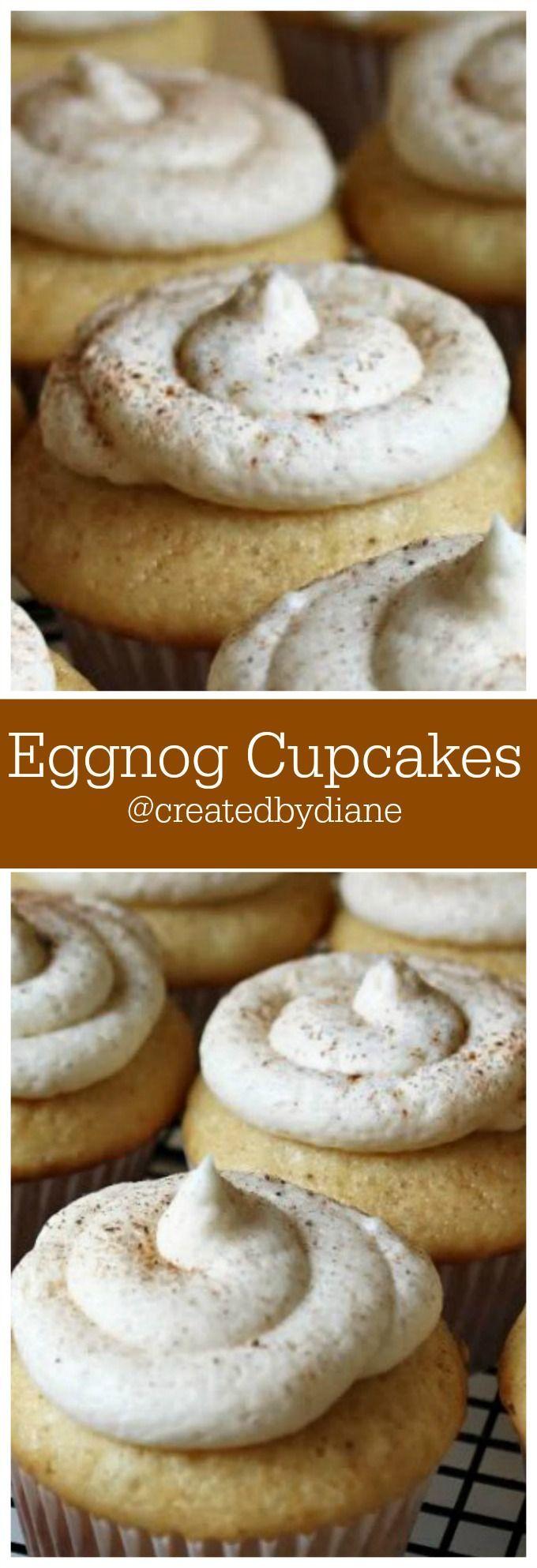 Eggnog Cupcakes /createdbydiane/