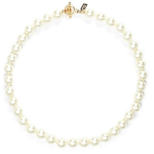 Kenneth Jay Lane Glass pearl choker necklace ($132) ❤ liked on Polyvore featuring jewelry, necklaces, white, choker necklace, toggle necklace, glass necklace, white necklace and toggle clasp necklace