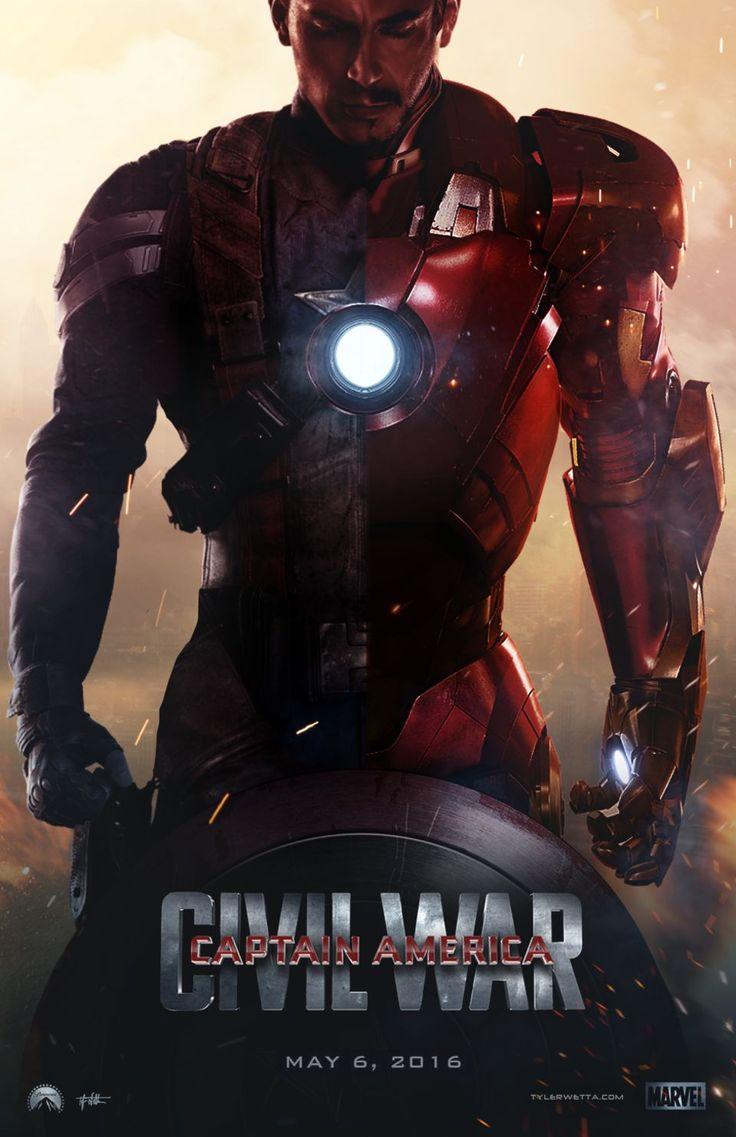 Steve Rogers, Tony Stark || Captain America: Civil War || by AncoraDesign || 736px × 1,137px || #fanart #poster