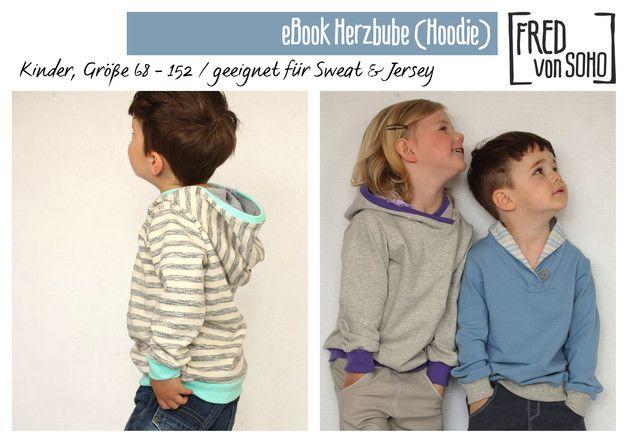 Beim Herzbuben handelt es sich um einen Schnitt für einen Pullover mit vielen Variationsmöglichkeiten. Lange, kurze oder 3/4-Ärmel, Kragen oder Kapuze, Strick, Sweat oder Jersey, vieles ist...