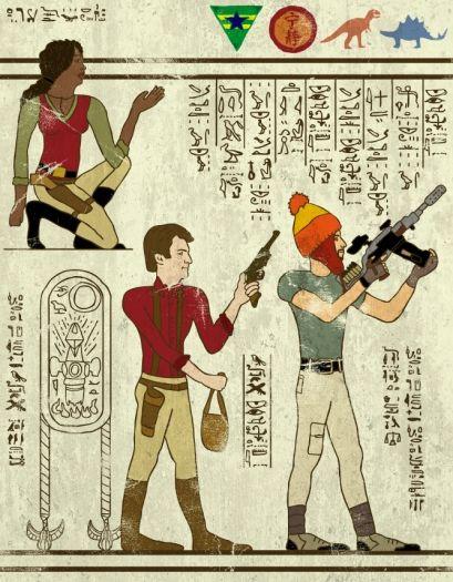 a bunch of awesome heiroglyphs art. Firefly, Star Wars, TMNT, etc. by Josh Ln on The Bazaar