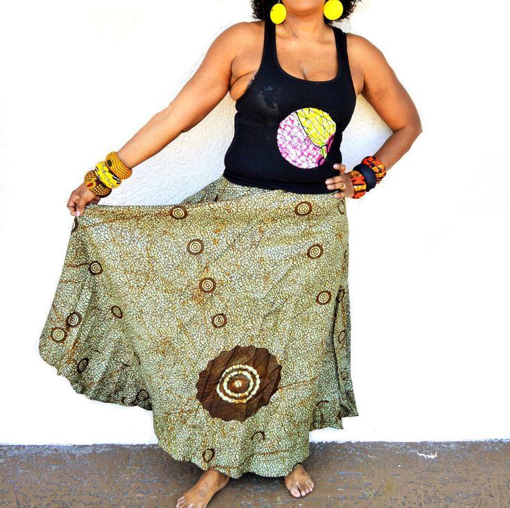 African Print Skirt, Green  Maxi Skirt, African Ankara Print Maxi Skirt -Romantic Maxi Skirt Long cotton Skirt- Maxi Skirt By Zabba Designs by ZabbaDesigns on Etsy