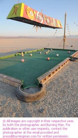 One Ball Side Pocket at 2011 Burning Man