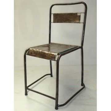 Dining chair Old School Natural metal