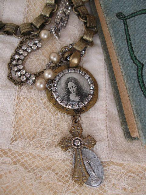 Grace Eternal ... vintage madonna rosary by OhMyGypsySoul on Etsy, $68.00