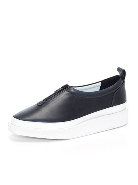 wite  A01- Black Coated Leather Shoes