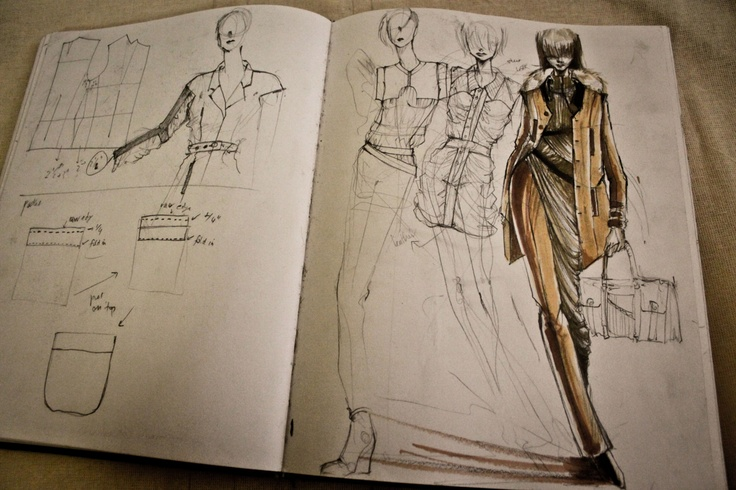 Fashion Sketchbook - fashion design drawings; fashion designer's sketch book // Peter Do
