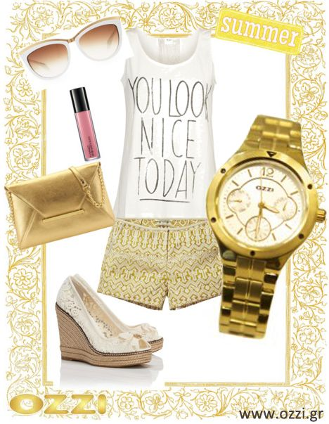 #LookOfTheDay  #fashion #style #timewear #watches #woman #summer #gold #accessories