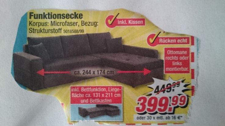 Kleine kuschelige Couch ist ein Jahr alt. Sie kommt aus einem Nichtraucherhaushalt. Wurde gut gepflegt. Keine Haustiere.Keine Mängel, keine Schäden.Strukturstoff: dunkles braun / grau, Korpus: MicrofaserFunktionsecke mit Bettfunktion und BettkastenLiegefläche 131 x 211cminkl KissenBei Interesse bitte anrufen.Selbstabholer erwünscht.