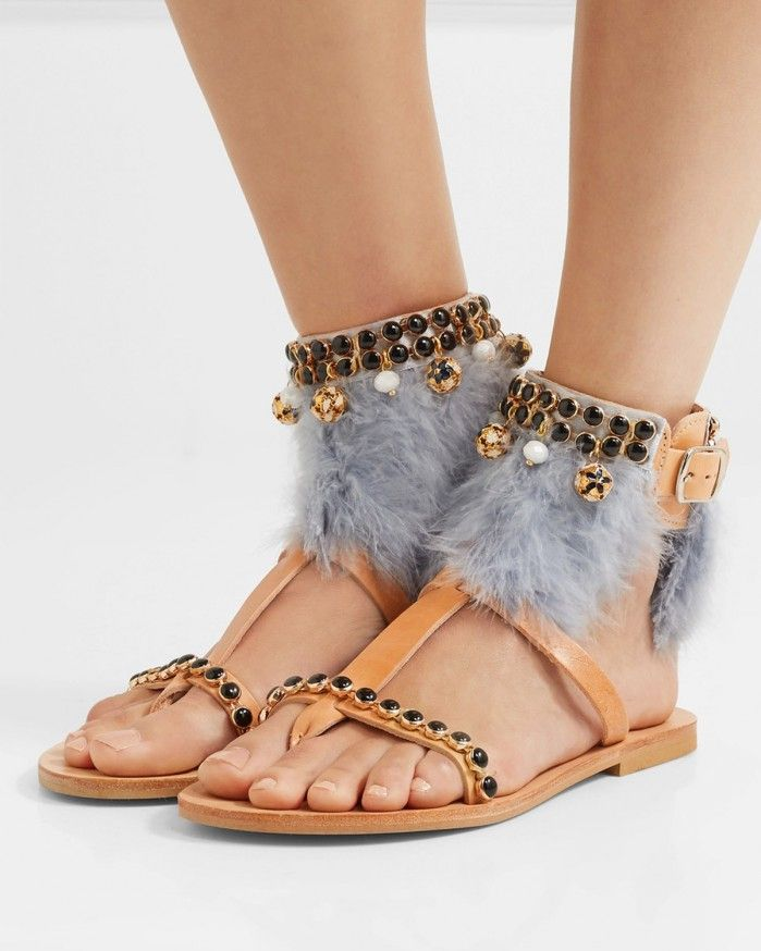 MABU BY MARIA BK Aten embellished leather sandals | Buy ➜ https://shoespost.com/mabu-maria-bk-aten-embellished-leather-sandals/