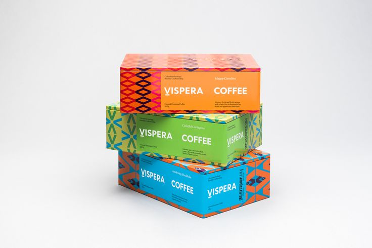 Packaging created by Stockholm Design Lab for Víspera Coffee, a range of 100% Arabica beans sourced from the high altitude plantations of Columbia.