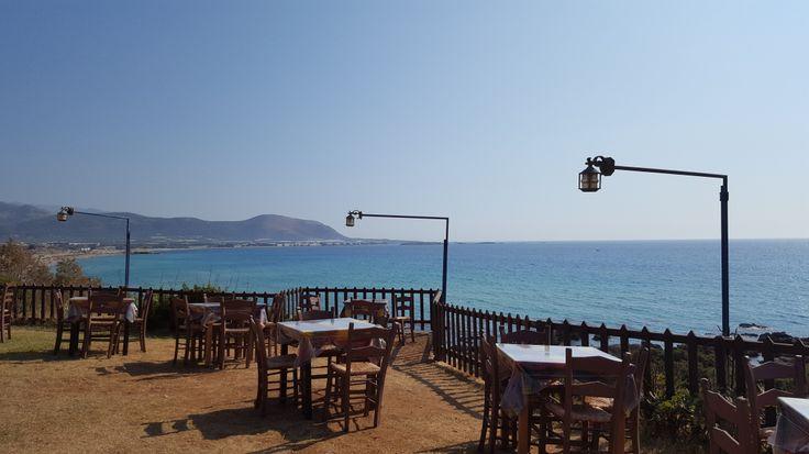View from Galathea taver in Falassarna - Crete - Greece #trivo