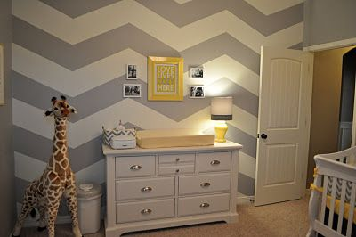 Love the idea of a gray & yellow gender neutral nursery