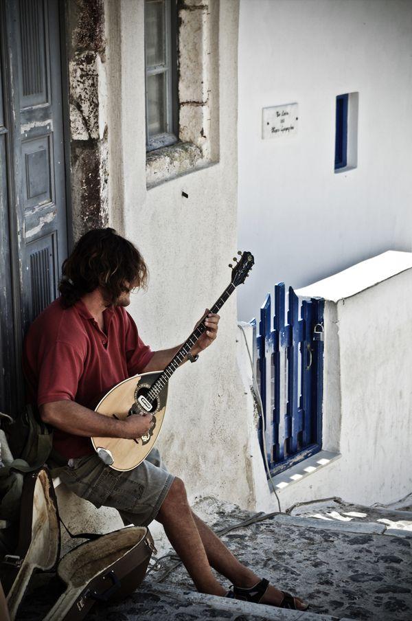 Bouzouki Musician,