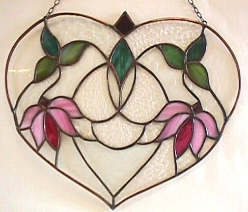 Stained Glass  Heart  Art Nouveau Design by RicochetStainedGlass, $98.00